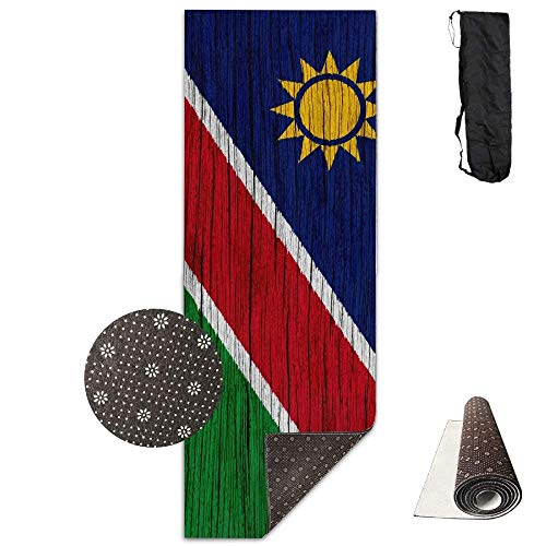 FGRYGF Non Slip Fitness Exercise Mat, Workout Mat for Yoga, Pilates and  Floor Exercises, Namibia Wooden Texture National Symbols Tapis de  Yoga,Crystal