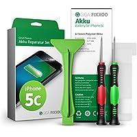 GIGA Fixxoo Batería iPhone 5c, Kit de Reparación con Herramientas e Instrucciones