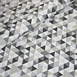 Baumwolle Stoff Geometrisch Meterware Dreieck Geo Muster
