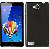 PhoneNatic Case für Huawei Honor 3C Hülle Silikon schwarz transparent + 2 Schutzfolien
