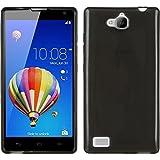 PhoneNatic Case für Huawei Honor 3C Hülle Silikon schwarz, transparent + 2 Schutzfolien