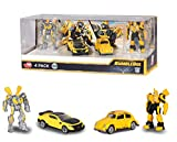 Majorette DICKIE Toys 203113020 Transformers Bumblebee Juego con 2 robótica + 2 coches, Boys