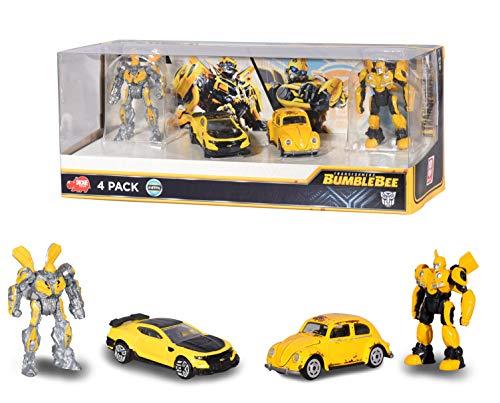 Dickie Toys 203113020Transformers Bumblebee Juego con 2robótica + 2coches, Boys