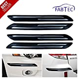 #1: Fabtec Premium Quality Black Car Bumper Protector Guard With Double Chrome Strip (4Pcs.) For Tata Tiago