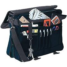 Bolso bandolera estilo maletín con múltiples compartimentos