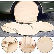 Funda para Neumático Coche, 4pcs bolsa funda de rueda de auxilio protección almacenamiento para neumáticos