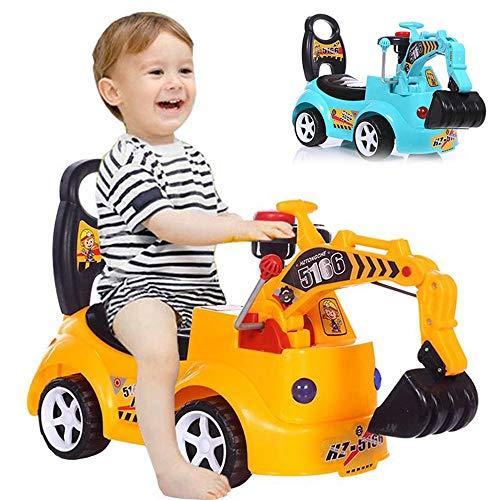 Sitzbagger für Kinder, Ride-on Bagger, vorgeben Spielen Engineer Truck mit Musik für Kinder, Jungen, Mädchen