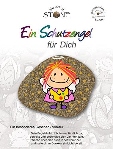 Ein Schutzengel für Dich - Serie 4 - Motiv 10 - Handbemalter-Naturstein-Unikat