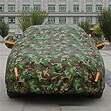 GLJY Auto-Cover, Auto-Cover Mit Fluoreszierenden Streifen UV-Schutz Allwetter-Schnee-Staub-Regen Wind-Resistent Outdoor Protector,Camouflage,XXXXL
