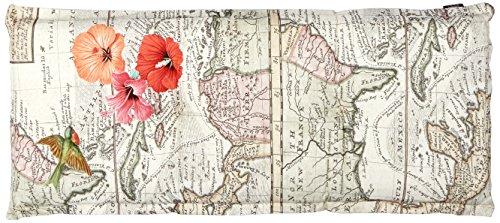 Madison 7BAN6-G066 Gartenbank, 2-Sitzer, 120 x 48 cm, Baumwolle / Polyester, Blumendesign, bahamas rot