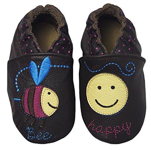 Rose & Chocolat RCC Bee Happy Baby Mädchen Lauflernschuhe Braun (Bee Happy Brown)