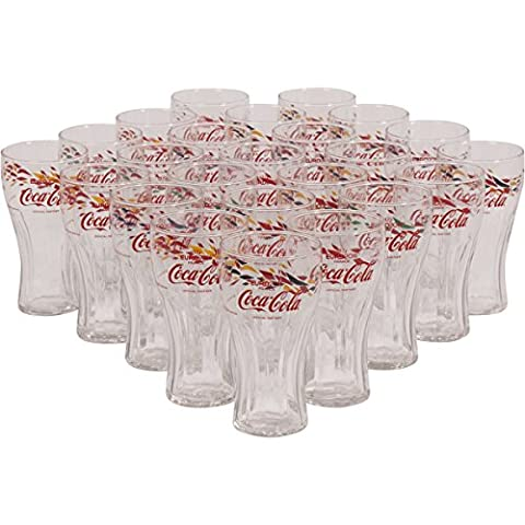 Coca Cola UEFA Euro Football Highball Clear Glass TWENTY FOUR