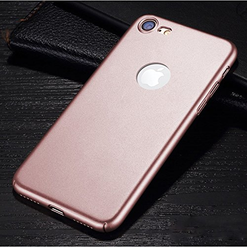 iPhone Case Cover Iphone 7 Abdeckung, leichte dünne feste Farbe bereifte Plasitc harten schützende rückseitige Abdeckungs-Fall für Apple Iphone 7 ( Color : Blue , Size : Iphone7 ) Rose Gold