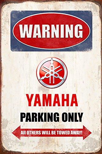 Schatzmix Warning Yamaha Parking only blechschild