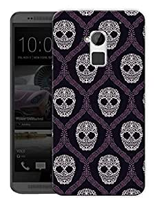 """Humor Gang Hand Drawn Skull Art Printed Designer Mobile Back Cover For """"HTC ONE MAX"""" (3D, Matte Finish, Premium Quality, Protective Snap On Slim Hard Phone Case, Multi Color)"""