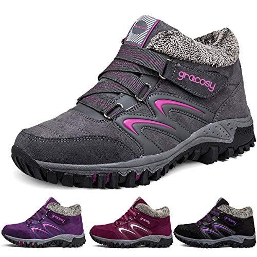 Gracosy Bottes de Neige Femme Filles, Chaussures de Sports...