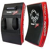 TurnerMAX BOXING KICK PAD, CURVED STRIKE SHIELD, Training for MMA, Kick Boxing, Karate - Red/Blk