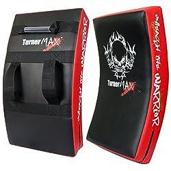 Turnermax Boxing Kick Pad, Curved Strike Shield, Training For Mma, Kick Boxing, Karate - Redblk