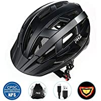 PHZING Bicycle Helmet CE Certified Adjustable Adult Helmet with Detachable Visor for Bicycle Road Bike Cycle BMX Riding