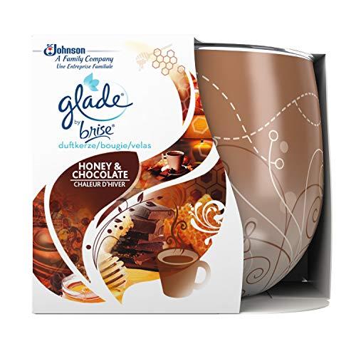 Glade (Brise) Duftkerze bis zu 30 Stunden Brenndauer, Duftkerze im Glas, Honey & Chocolate, 2er Pack (2 x 120 g)