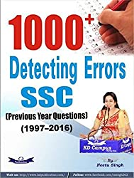 KD Campus 1000+ Detecting Errors SSC (Previous Year Question) (1997-2016)