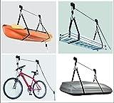 Deckenlift Deckenhalter Fahrradlift 45kg Fahrradgarage Fahrradhalter Seilzug für E-Bike
