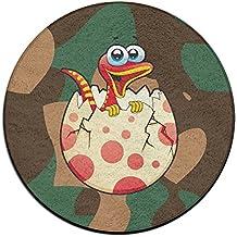 Yo Ou redondo área alfombra serpiente bebé Casual antideslizante suelo alfombra alfombra piso alfombra alfombra de interior exterior antideslizante almohadillas