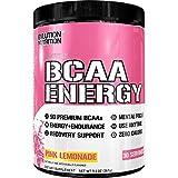 Evlution Nutrition BCAA Energy - leistungsstarkes energetisierendes Aminosäure Supplement für Muskelaufbau, Regeneration und Ausdauer (30 Portionen) Pink Lemonade