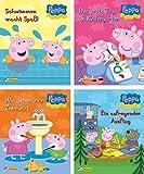 4 Bücher - Peppa - Miniausgabe Nr 1 - 4