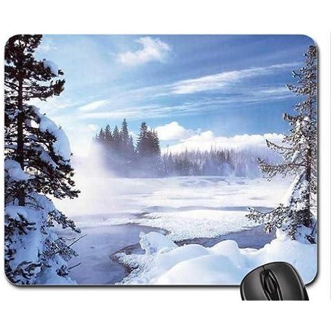 Hermoso Invierno Nieve Tema Mouse Pad, Mousepad (Winter Mouse Pad)