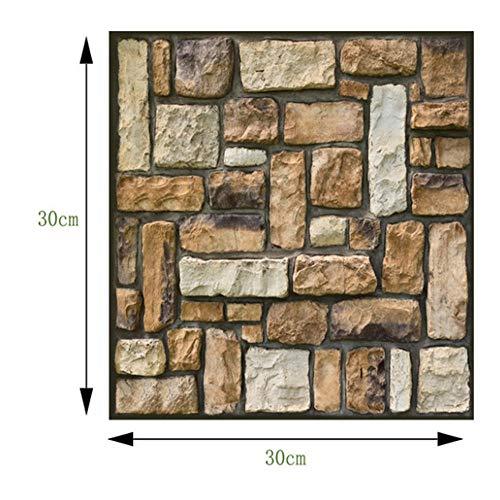 30 * 30 * 0,4 cm, rivestimento murale effetto pietra per soggiorno, cucina, terrazza o camera da letto.adesivi per piastrelle, adesivi anticollisione, adesivi murali in pvc. @ 2_10