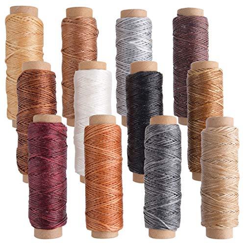 TUPARKA 12 colores cuero hilo hilo encerado