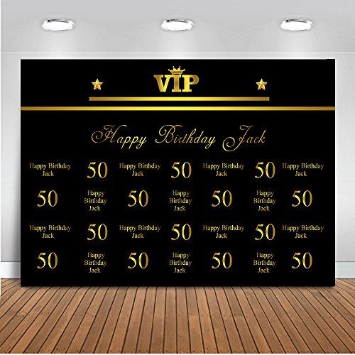 Mehofoto Angepasst 50. 60. 70th 80th Birthday Celebration Hintergrund Benutzerdefinierte Name Alter Stil Farbe & Material Foto Kulissen 7x5ft Geburtstag Dekoration Banner Fotografie Hintergrund