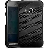 Samsung Galaxy Xcover 3 Hülle Schutz Hard Case Cover Carbon Metall Look