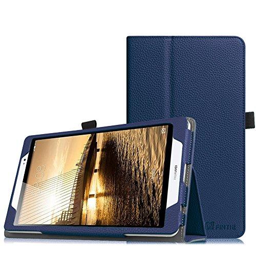 Fintie Huawei MediaPad M2 8.0 Hülle - Slim Fit Kunstleder (Folio) Schutzhülle Tasche Case Cover Standfunktion und Stylus-Halterung für Huawei MediaPad M2 8 Zoll LTE / WiFi Tablet-PC, Marineblau