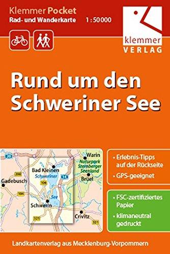 Klemmer Pocket Rad- und Wanderkarte Rund um den Schweriner See: GPS geeignet, Erlebnis-Tipps auf der Rückseite, 1:50000