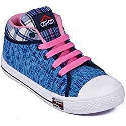 Asian Shoes Racer-81 Blue Canvas Womens Casual Shoes 5 Uk/Indian