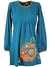 Hippie de boho Mini vestido Chic vestidos cortos/colour azul