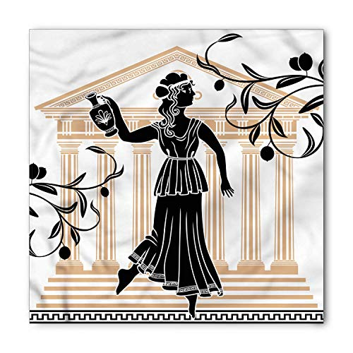 Soefipok Toga Party Bandana, griechische Frau und Amphore, Unisex Kopf und Krawatte Stirnband Kopf wickeln