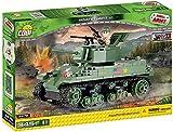 COBI- 350 PCS Small Army 2478 M5A1Stuart VI Costruzioni Piccole Gioco Bambino 569, Colore Verde