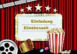 10 lustige Einladungskarten für Kindergeburtstag im Set Kino lol Party Postkarte Jungen Mädchen Kinder Emoji Smiley angesagt