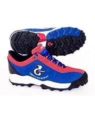 Gryphon–Zapatillas de hockey Viper (azul/rojo) Reino Unido tamaño 12/EU 46