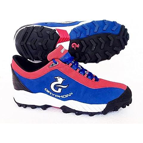 Gryphon–Zapatillas de hockey Viper (azul/rojo) UK tamaño 10/EU 44