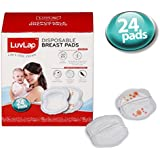 LuvLap Disposable Breast Pads - Ultra Thin and Super Absorbent - Pack of 24