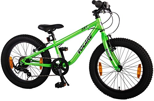 Kinderfahrrad Volare Fat Bike 20 Zoll grün Fatbike Mountainbike 7-Gang Shimano