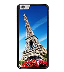 Fuson Premium 2D Back Case Cover Eiffel tower With Pink Background Degined For Apple iPhone 6