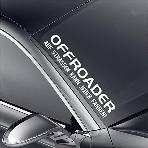 Schönheits Shop Offroader Frontscheibenaufkleber Aufkleber Tuning Turbo Heckscheibe Jeep Sticker (Jeep Aufkleber Heckscheibe)
