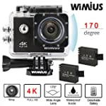Wimius 4K Action Cam WIFI WebCamera F...
