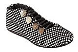 #3: Red Choice Collection Black & White Synthetic Checkered Shoes For Women and Girls (RC065)