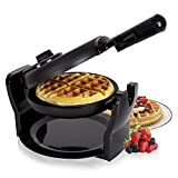 Duronic (Certified Refurbished) WM11 /BK 1100W Black Rotating Delicious Fresh Evenly Cooked Belgian Waffle Maker / Waffle Iron